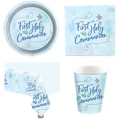 Blue First Communion Party Pack