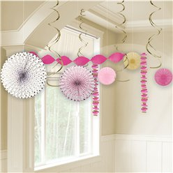 Pink 1st Communion Room Decorating Kit