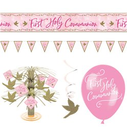 Pink First Communion Room Decorating Kit