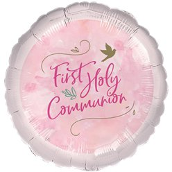 "Pink 1st Communion Balloon - 18"" Foil"