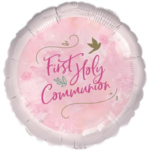 Pink 1st Communion Balloon - 18
