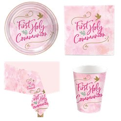 Pink First Communion Party Pack
