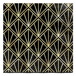 Hollywood Metallic Paper Beverage Napkins - 25cm