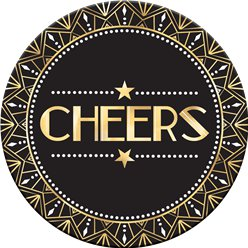Hollywood 'Cheers' Cardboard Drink Mats