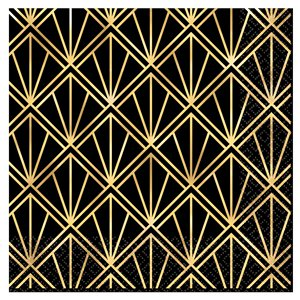 Hollywood Metallic Paper Lunch Napkins - 33cm