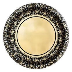 Hollywood Metallic Paper Dessert Plate - 18cm