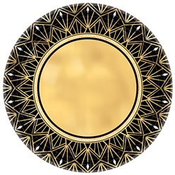 Hollywood Metallic Paper Plate - 26cm