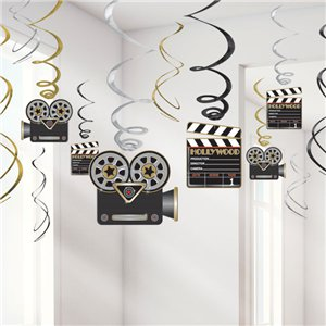 Hollywood Hanging Swirls Decoration - 60cm