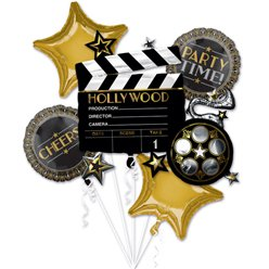Hollywood Balloon Bouquet - Assorted Foil