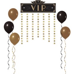 Hollywood Metallic VIP Decorative Door Curtain