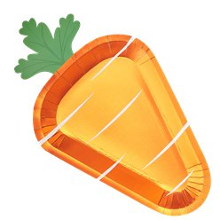Carrot Crunch Easter Paper Plates - 32cm