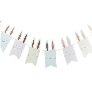 Hoppy Easter Bunny Rose Gold Flag Bunting - 2m
