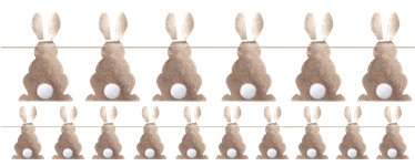 Hoppy Easter Bunny Shaped Bunting Garland - 1.2m Rose Gold Bunting