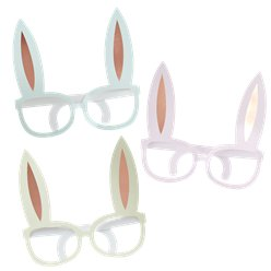 Hoppy Easter Bunny Rose Gold Novelty Glasses