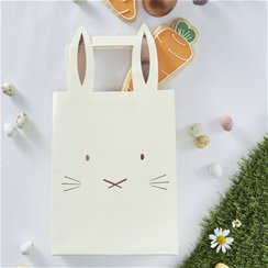 Hoppy Easter Rose Gold Bunny Party Bags - 29cm Paper Party Bags