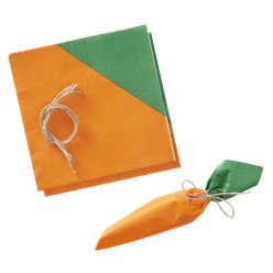 Hoppy Easter Carrot Napkins with Twine Decoration - 33cm