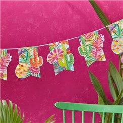 Hot Summer Paper Bunting - 2.5m