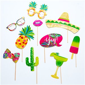 Hot Summer Photo Booth Props