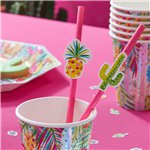 Hot Summer Paper Straws - 19cm
