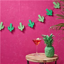 Hot Summer Wooden Cactus Bunting - 1.5m