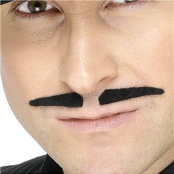 Black Spiv Moustache - Black