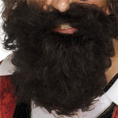 Brown Pirate Beard  - Pirate Fancy Dress Costume Accessories  front