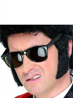 50's Sideburns - Black Self Adhesive