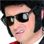 50s Sideburns - Black Self Adhesive