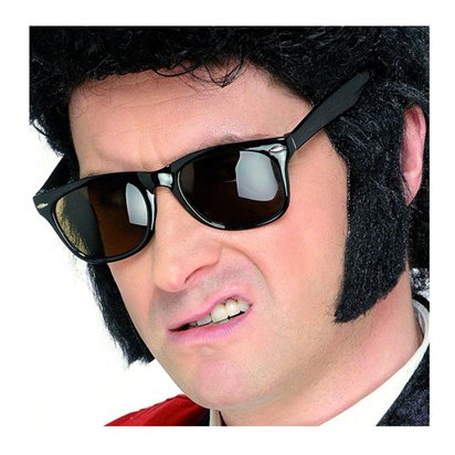 Black 50's Sideburns - Fake Sideburns pla