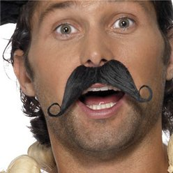 Frenchman Moustache - Black