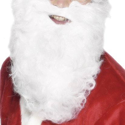Santa Beard - Men's Christmas Accessory - Adult One Size front