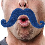 Moustache - Blue Fancy Dress