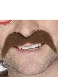 70s Moustache - Brown