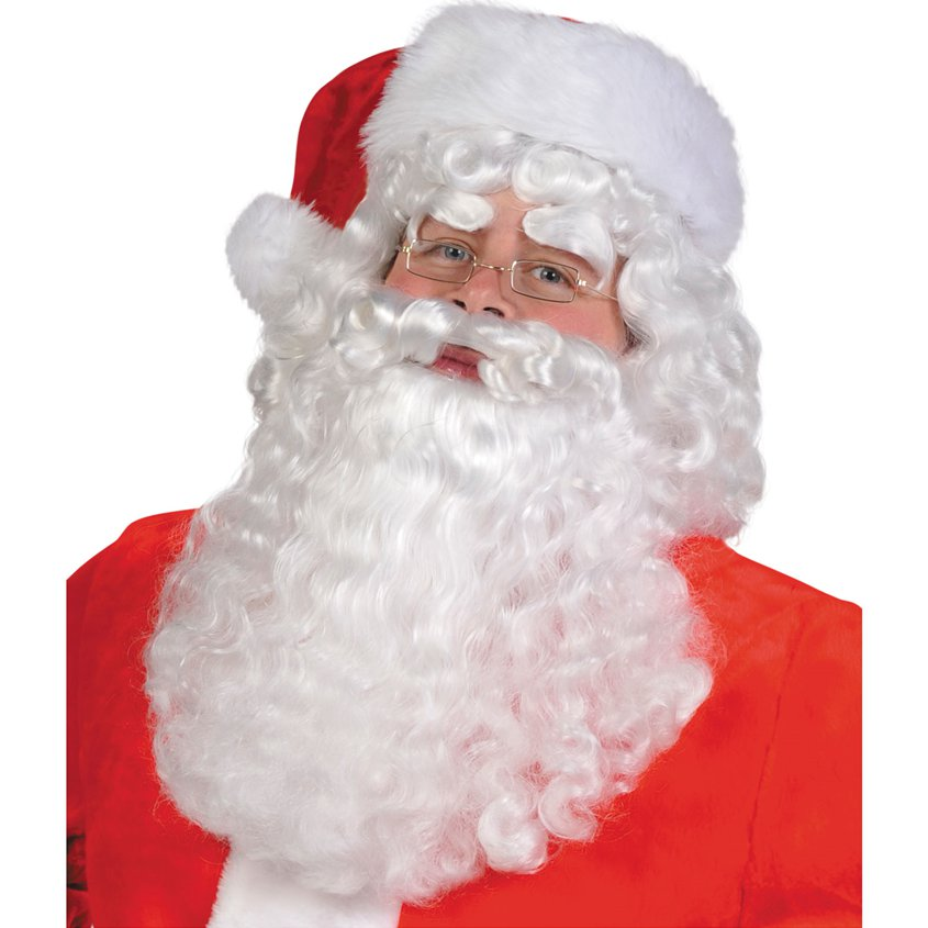 Santa Claus Hair and Beard Christmas Party Two Piece Set One Size Fits All NEW