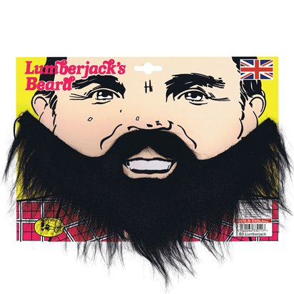 Lumberjack Beard - The Bearded Lady - The Greatest Showman Circus Fancy Dress Accessories front