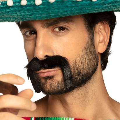 Mexican Moustache - Mens Mexican Fancy Dress Accessories front