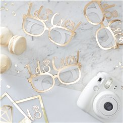 'I Do Crew' Gold Foiled Party Glasses