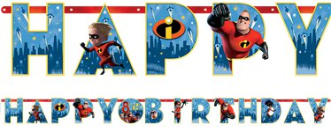 The Incredibles 2 Letter Banner - 3.2m Add an Age Banner