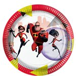 The Incredibles Paper Plates - 23cm