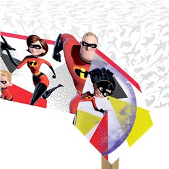 The Incredibles Plastic Tablecover - 1.8m x 1.2m