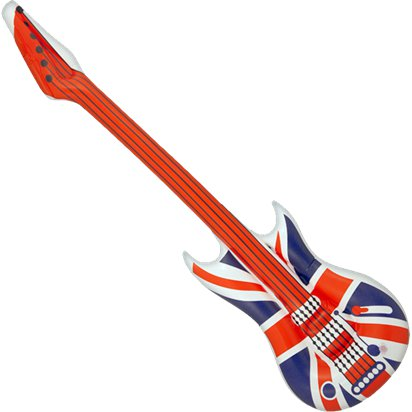 Inflatable Union Guitar - 1.06m - Royal Wedding Street Party  front