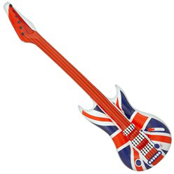 Inflatable Union Jack Guitar