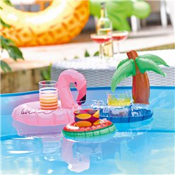 Inflatable Drink Holders - Flamingo, Watermelon, Palm Tree
