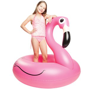 Giant Inflatable Pink Flamingo Pool Float - Over 1.2m Wide
