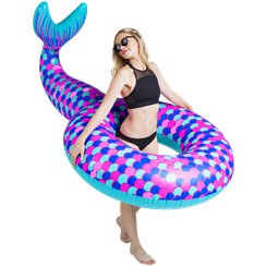 Giant Inflatable Mermaid Tail Pool Float - Over 1.5m Wide