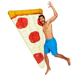 Giant Inflatable Pizza Slice Pool Float - Over 6ft long