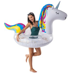 Giant Inflatable Sparkly Unicorn Pool Float - Over 1.5m Wide