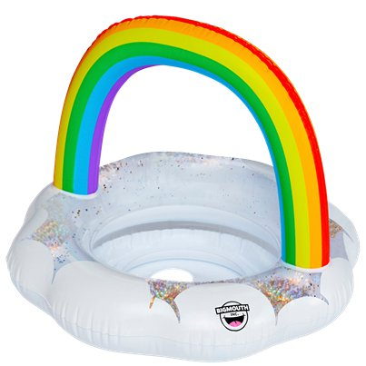 Lil' Inflatable Sparkly Rainbow Pool Float - Holds Up To 20kg