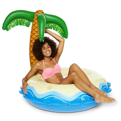 Inflatables Giant Inflatable Palm Tree Island Pool Float