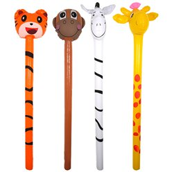 Inflatable Jungle Animal Stick - 118cm